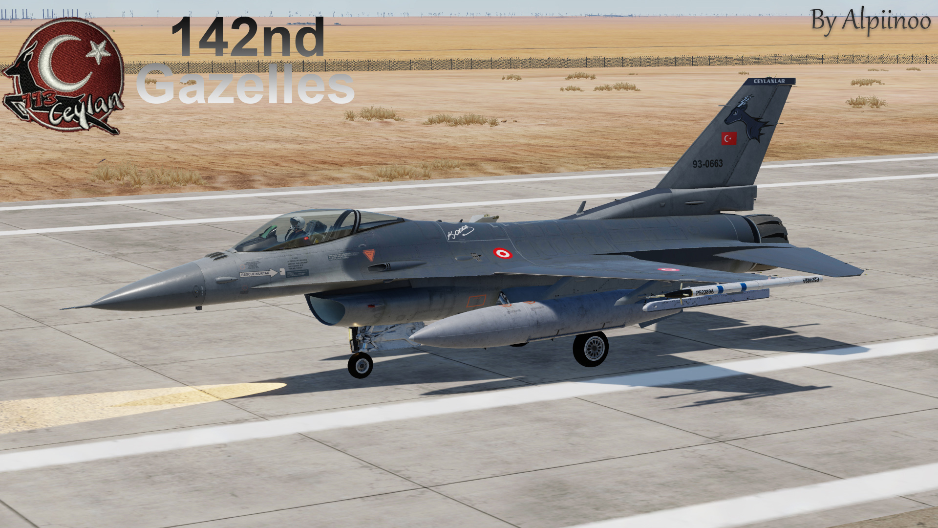 Turkish Air Force (TurAf) F-16C - 142nd Gazelles (NEW UPDATE)