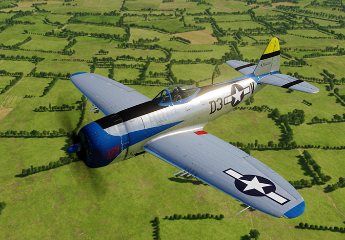 """Lizzy"" Republic P-47D-30-RE 44-20456 flown by Capt. Les Leavoy"