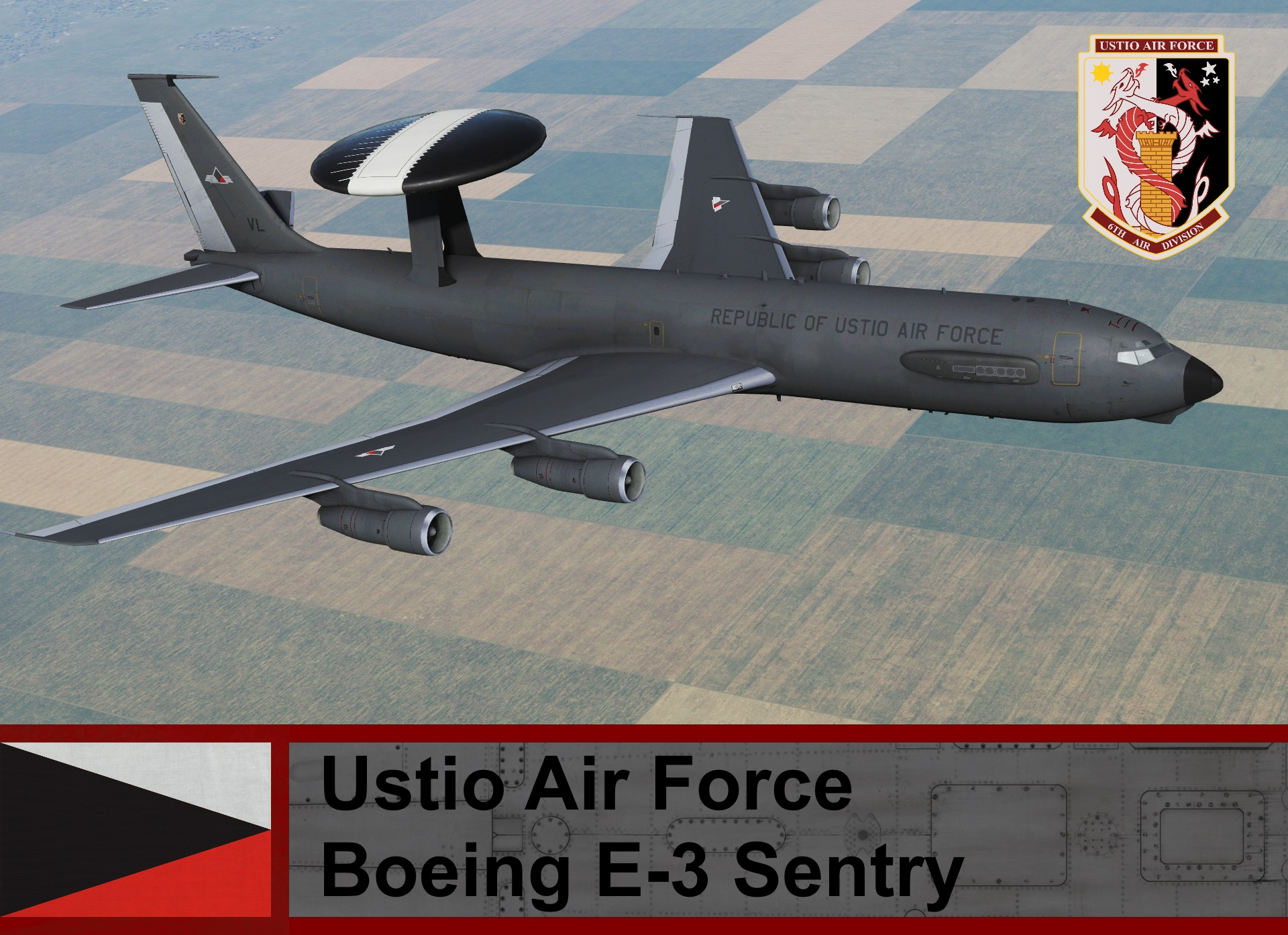 Ustio Air Force Boeing E-3 Sentry - Ace Combat Zero <<AWACS EAGLE EYE>>