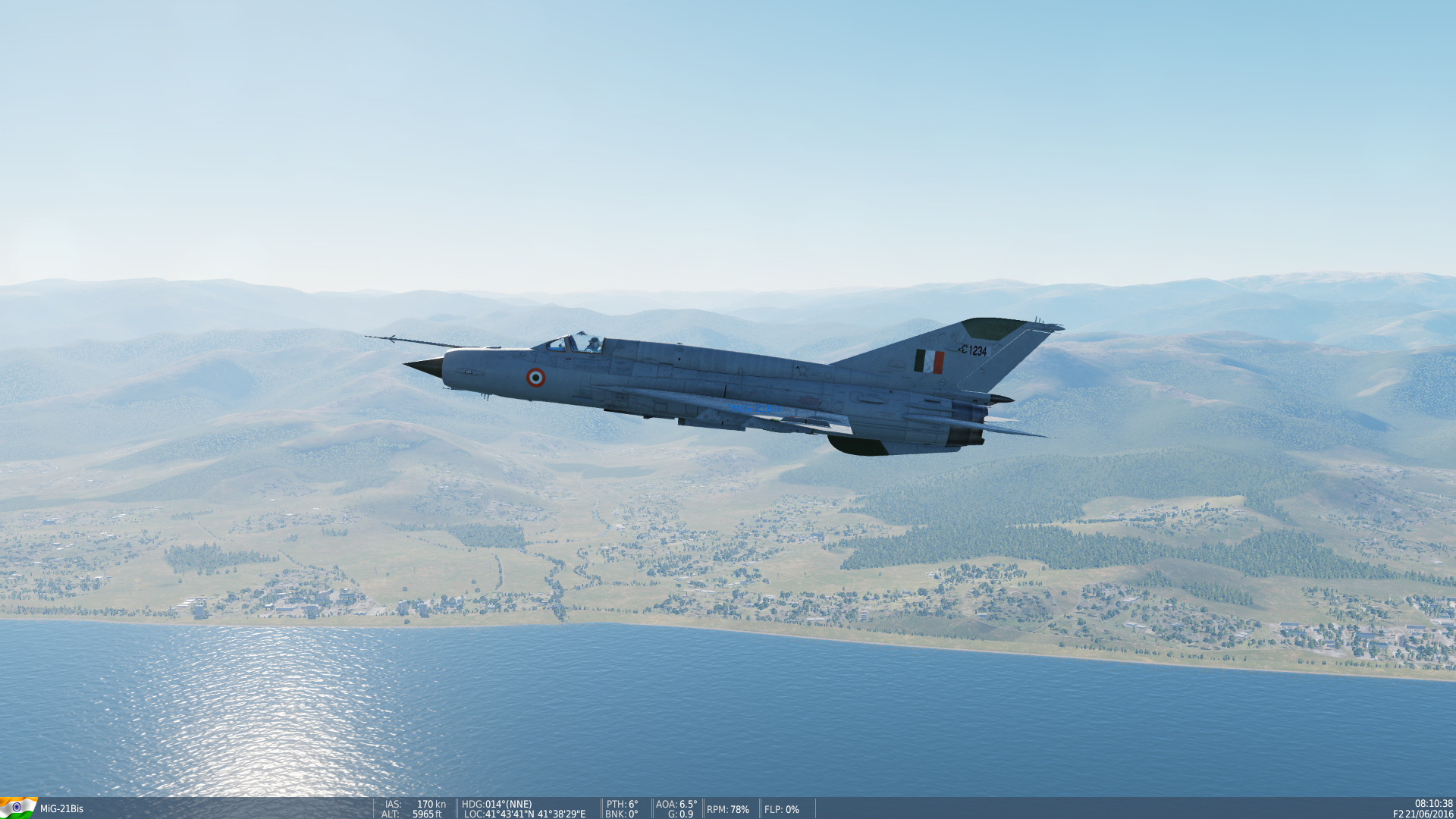 Mig 21bis Basic Gray Skin for Indian Air Force