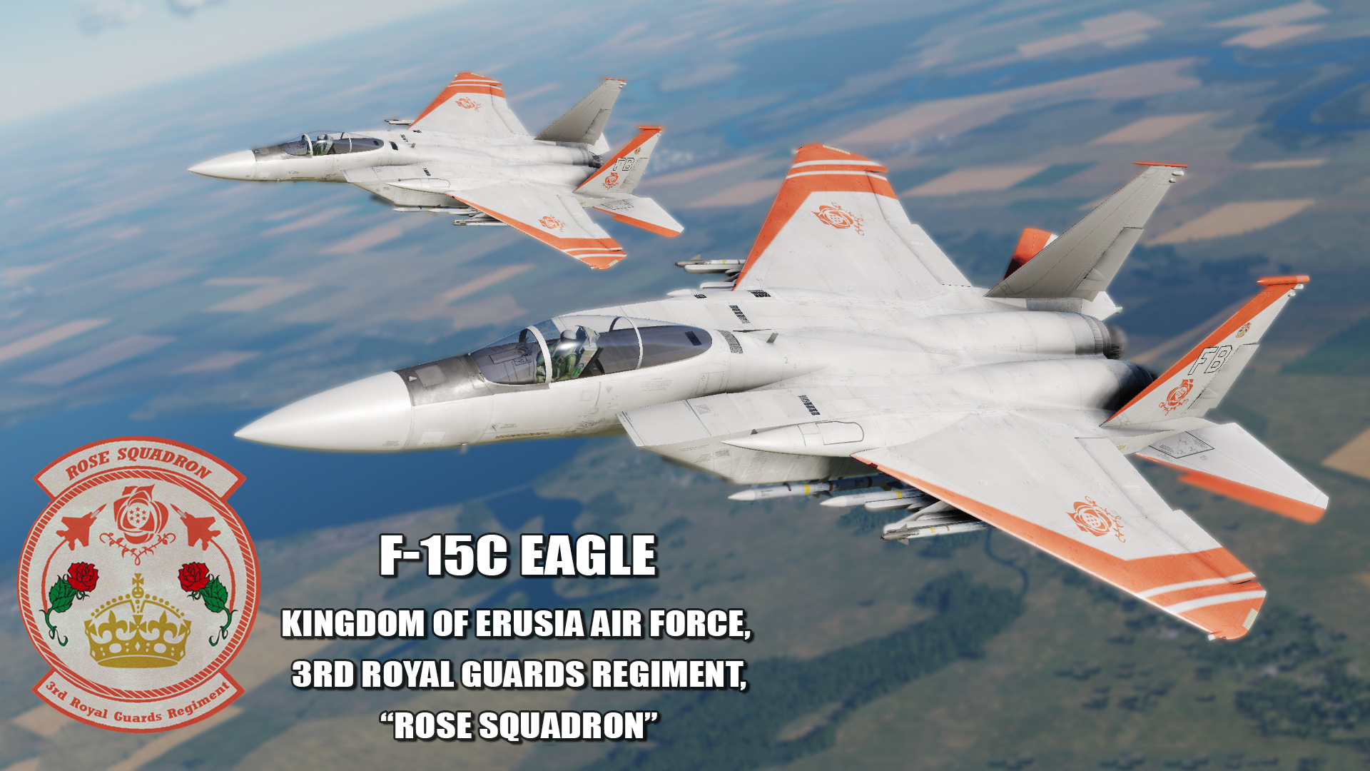 "Ace Combat - Kingdom of Erusea Air Force 3rd Royal Guards Regiment ""Rose Squadron"" F-15C Eagle"