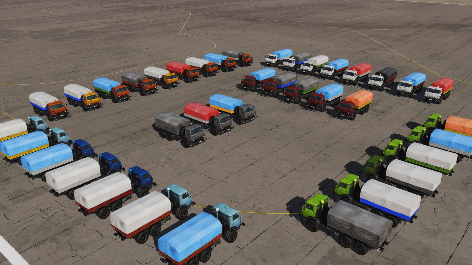 Kamaz Truck Civilian Liveries Pack
