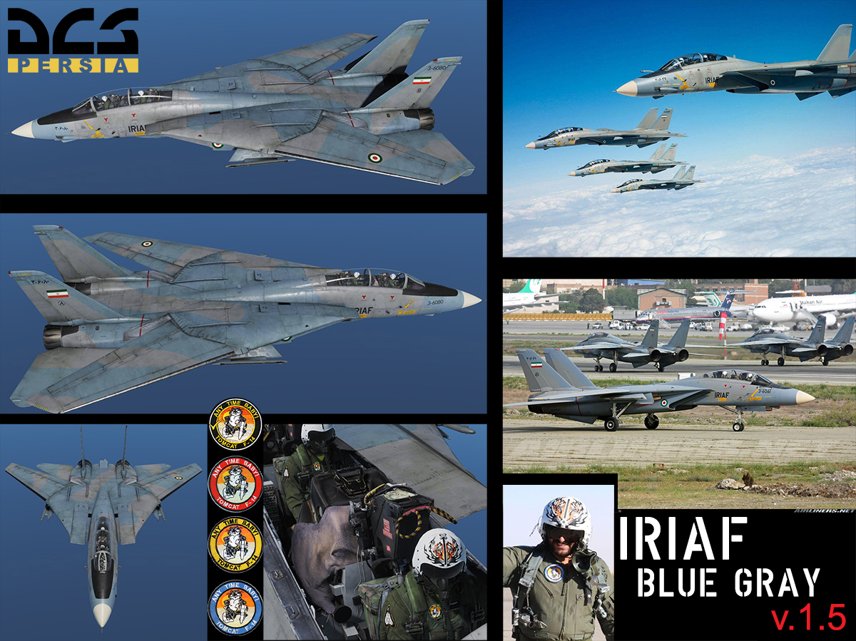 F-14B(A) Blue-Grey IRIAF [3-6080] (Fictional) v.1.5 [4/23/2019]