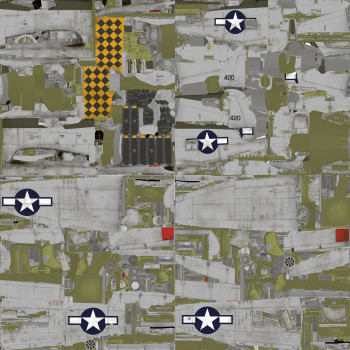 Texture template for P-47D model