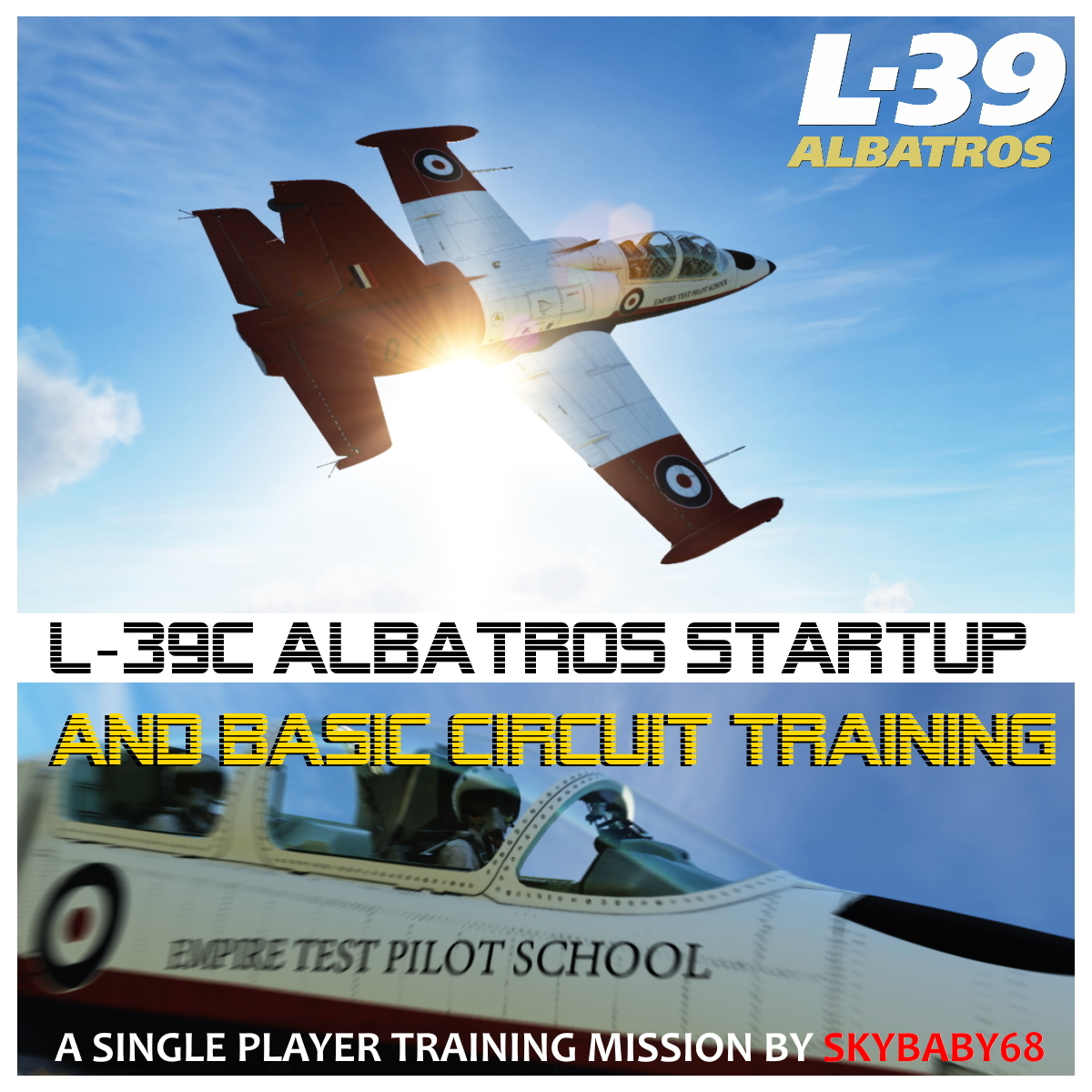 L-39C Albatros StartUp and Simple Circuit Training with custom kneeboards & instructor voiceovers