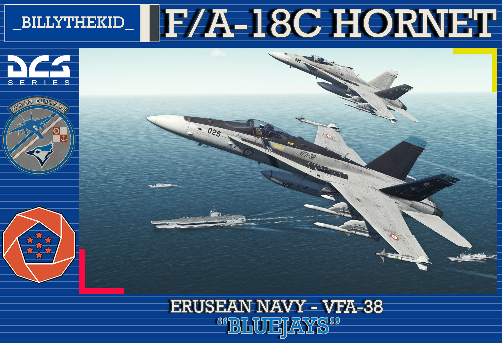 "Ace Combat - Federal Erusean Navy VFA-38 ""Bluejays"" F/A-18C Hornet"