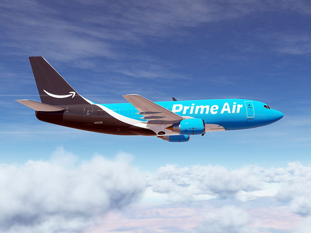 Amazon Prime Air Boeing 737 (Modern Paint for Civil Aircraft Mod)