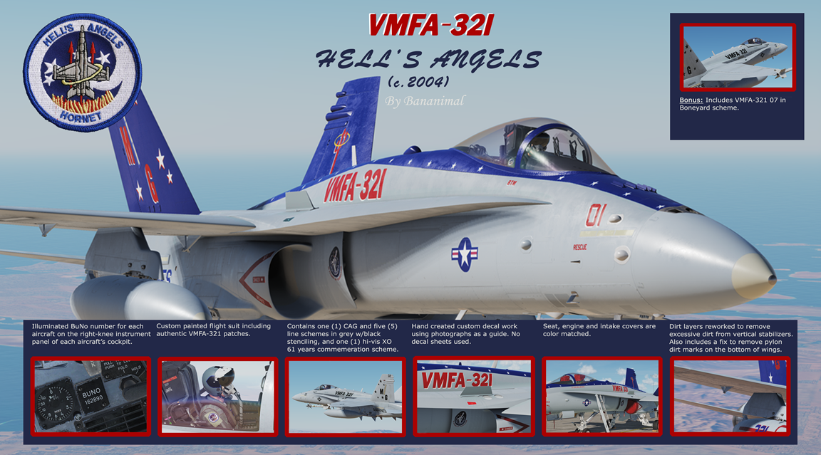 VMFA-321 Hell's Angels Pack 3 of 3 (c 2004)