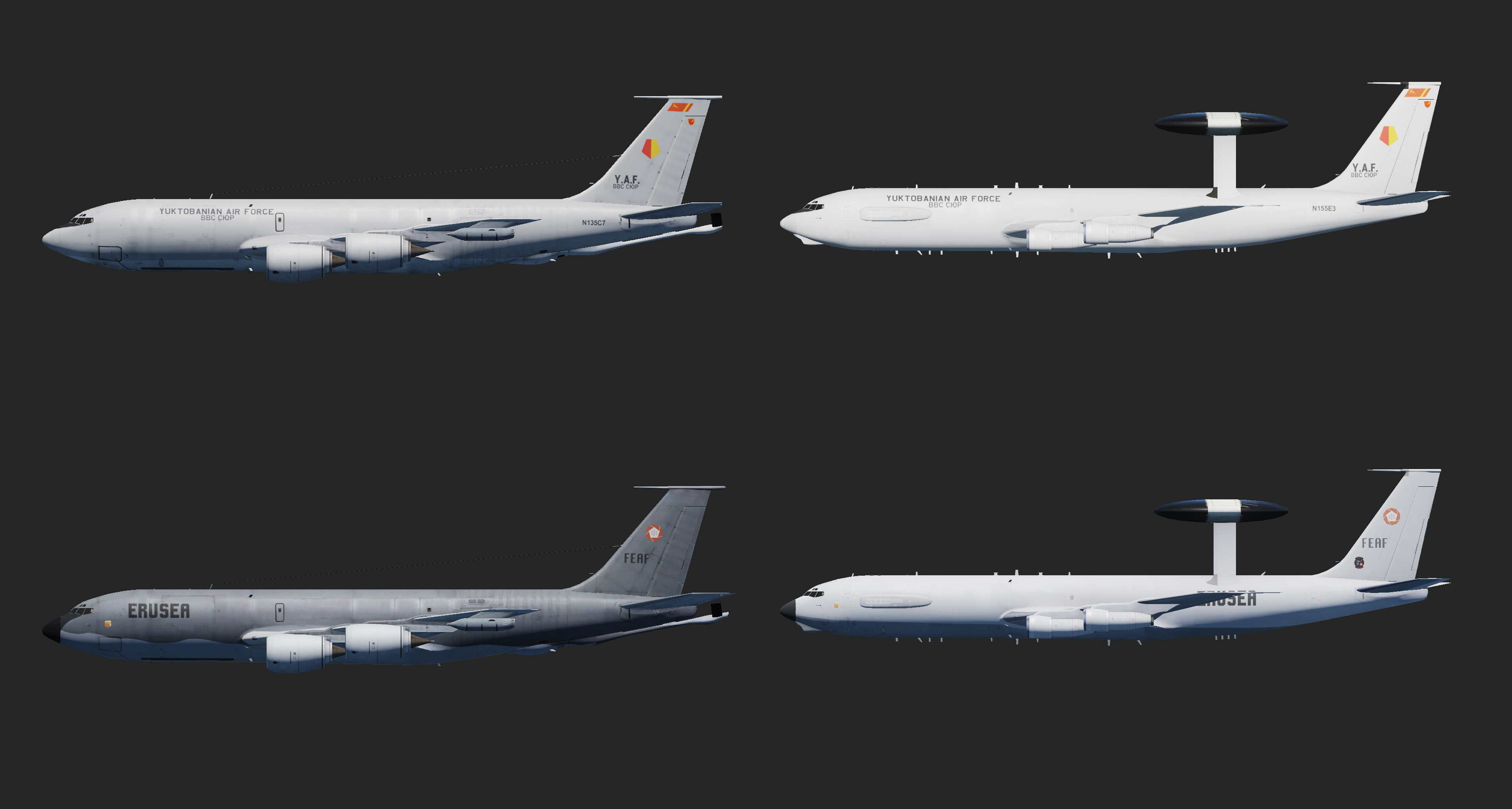 Ace Combat - Support Aircraft Pack (AWACS & Tankers)