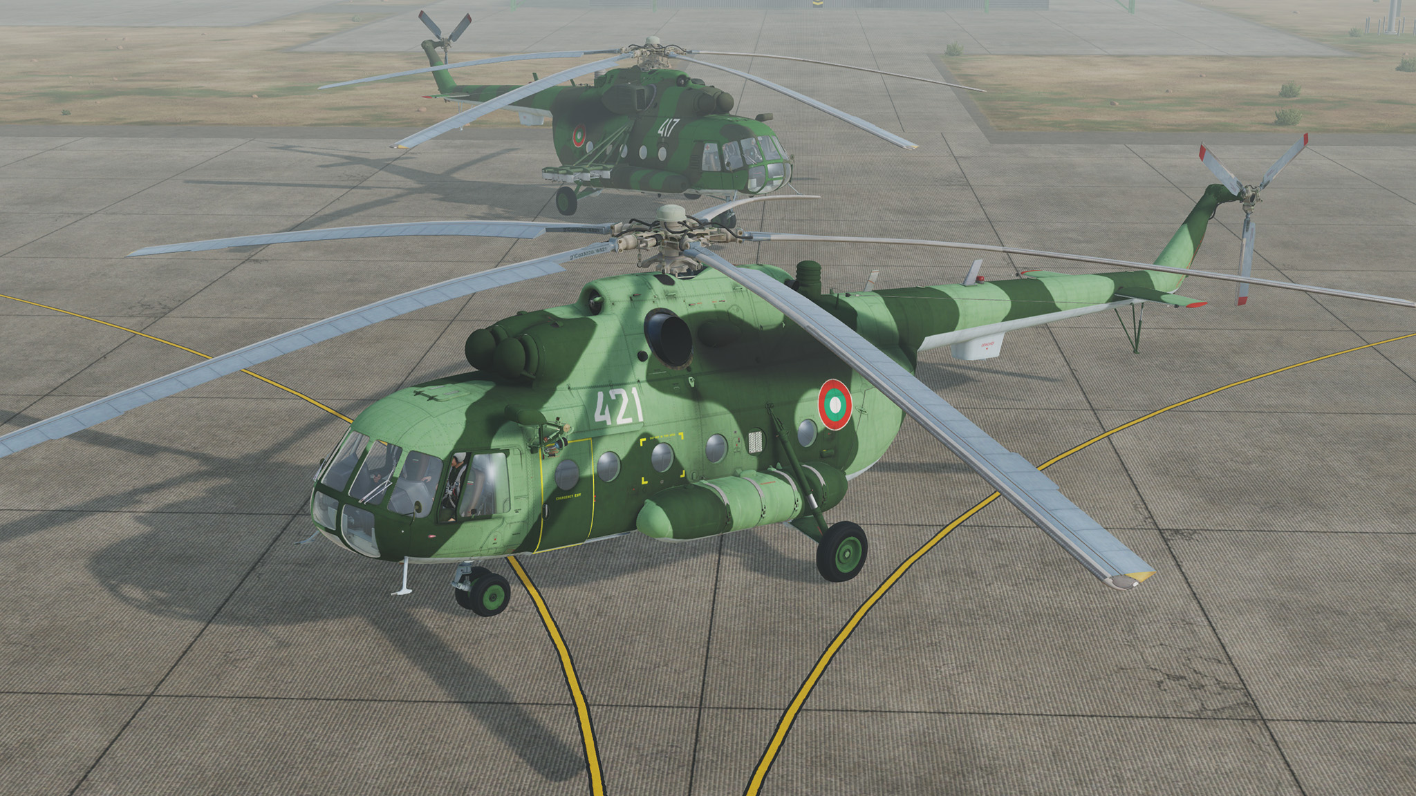Mi-17 Bulgaria Air Force, tact. number 417 and 421