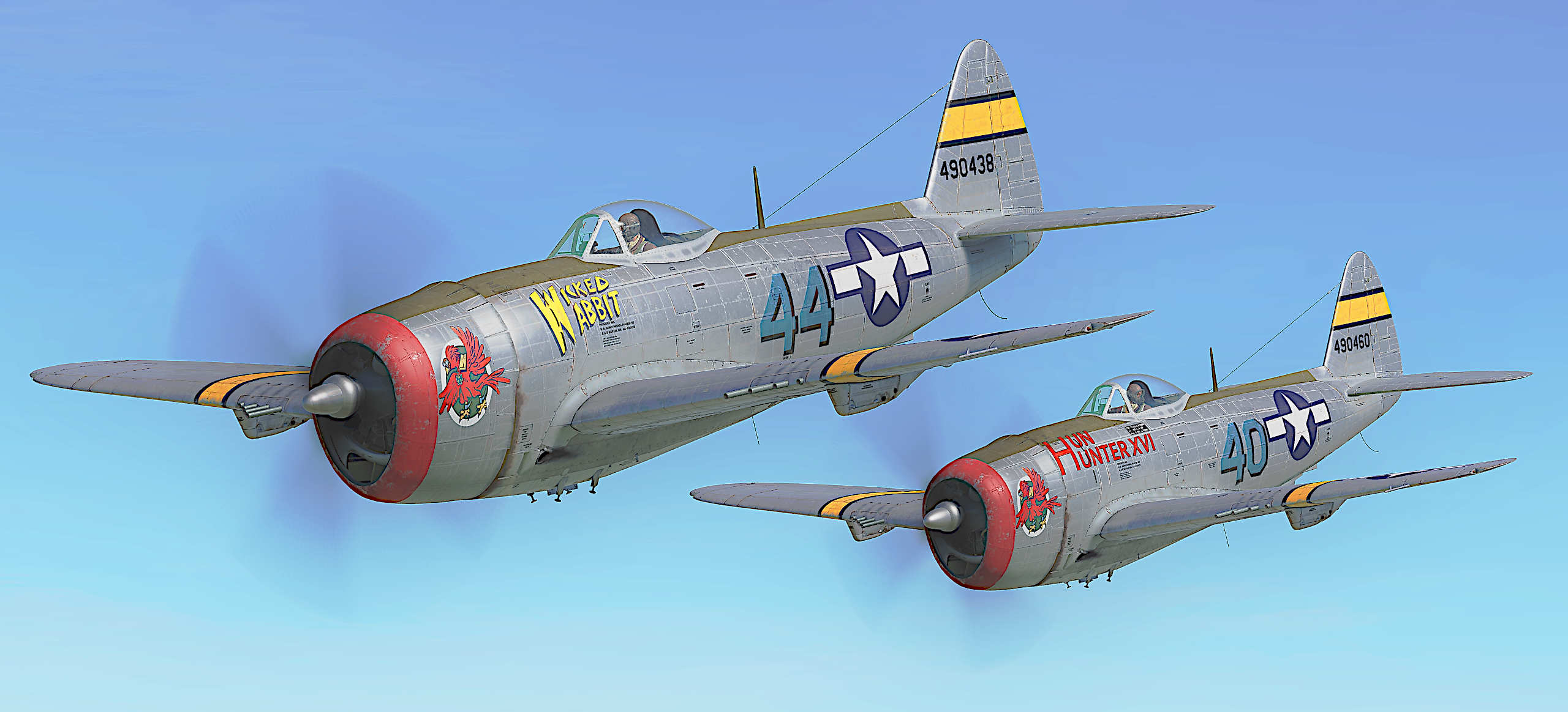 "P47D-30 ""Wicked Wabbit"" Flown By Lt. James C. ""Wabbit"" Hare,65th Fighter Squadron.UPDATED"