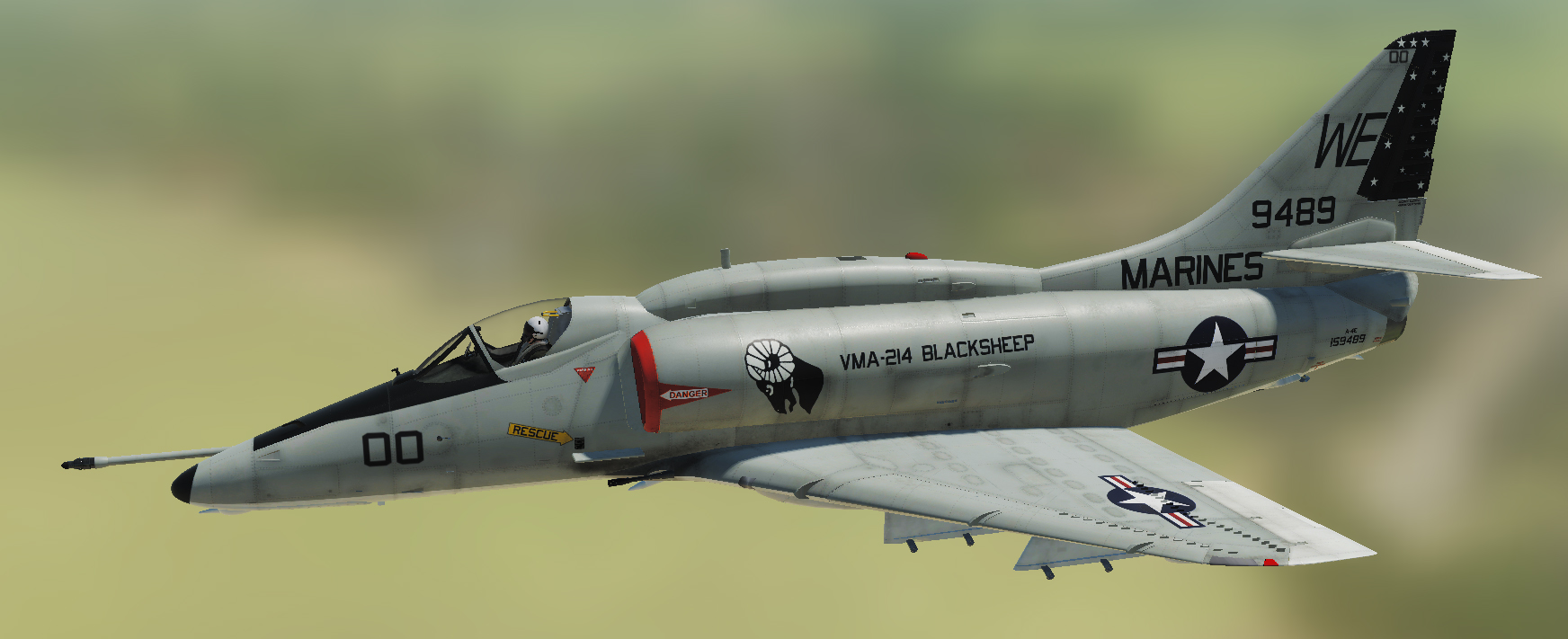 "A-4E: VMA-214 ""Black Sheep"" Skin Pack"
