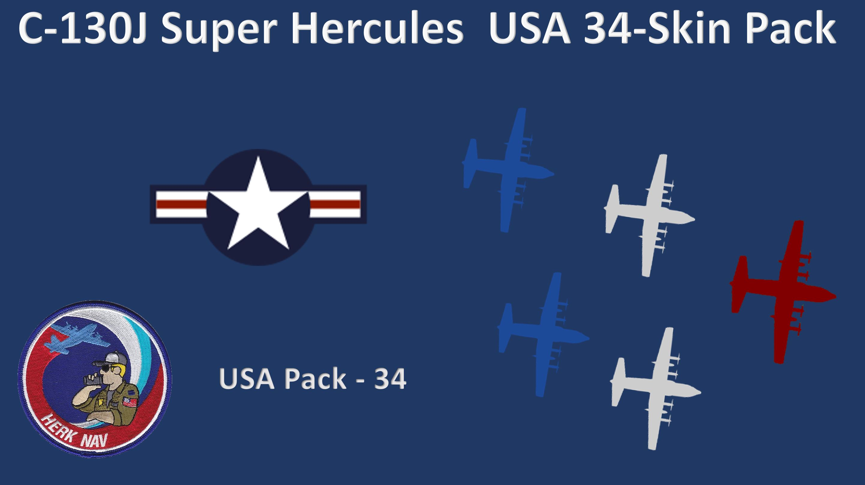 ***NEW 18APR21*** C-130J Super Hercules  34- Skin USA Pack V3.2