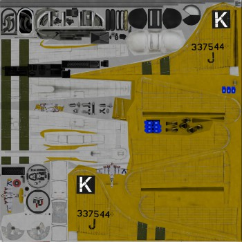 Texture template for B-17G model