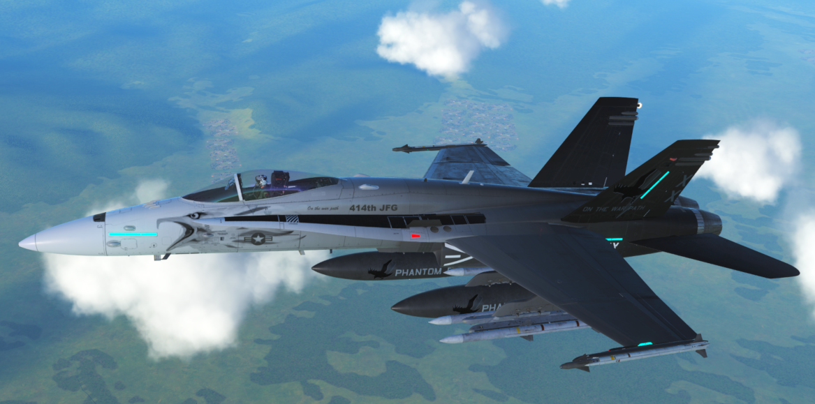 "414th FG F/A-18C ""Phantom Eagles"" [FICTIONAL]"