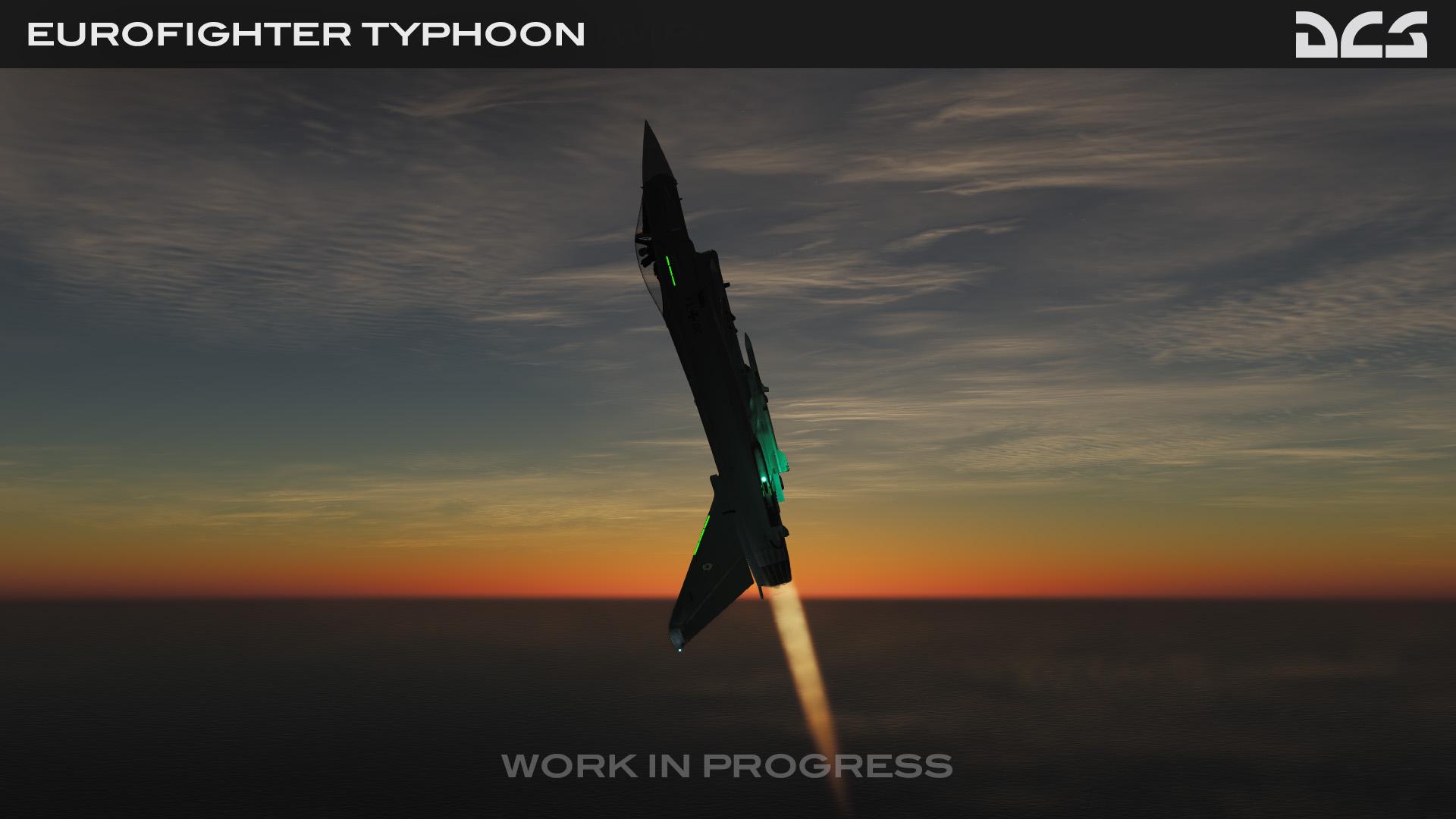 Typhoon by night