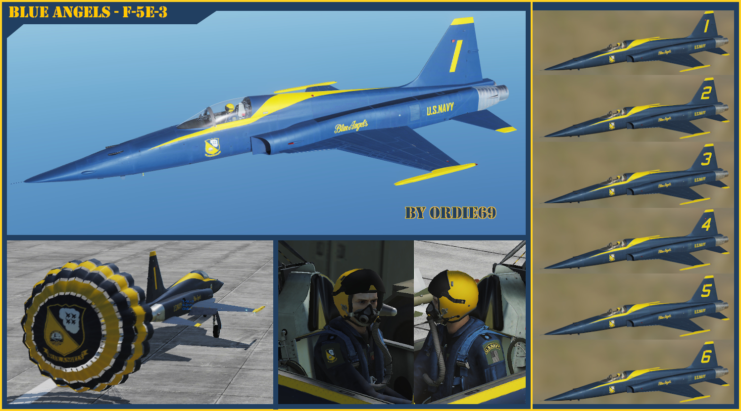 Blue Angels Team for F-5E-3