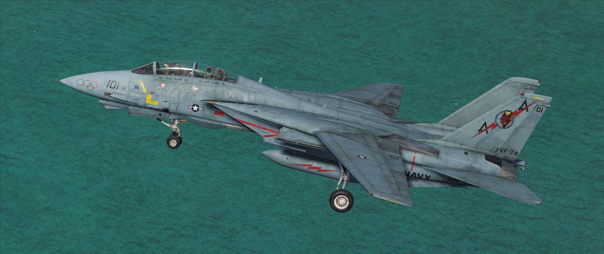 VF-74 Olympic Rings, Be-Devilers, F-14B v1.1