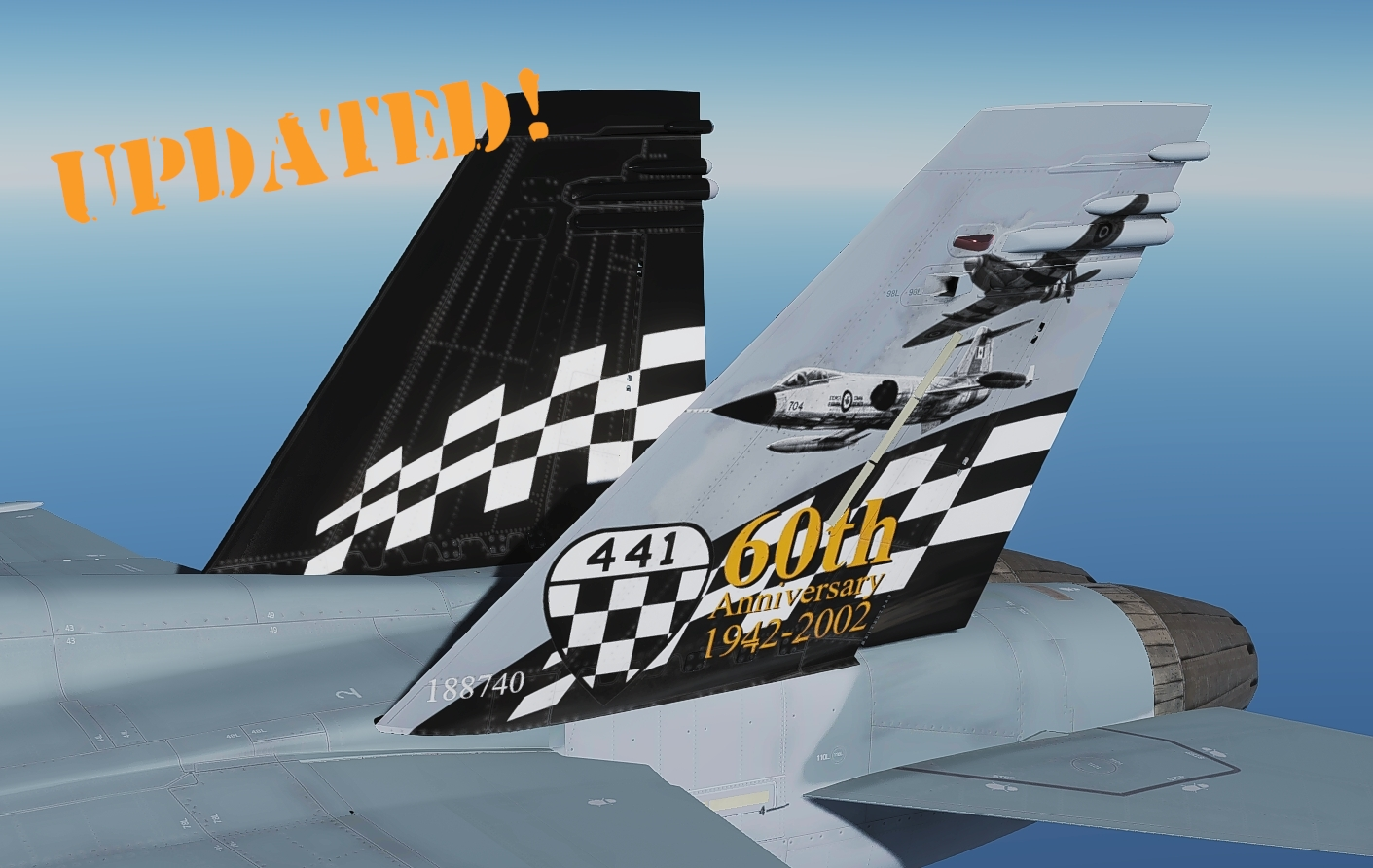 441 Sqn 60 Years Colour tail art