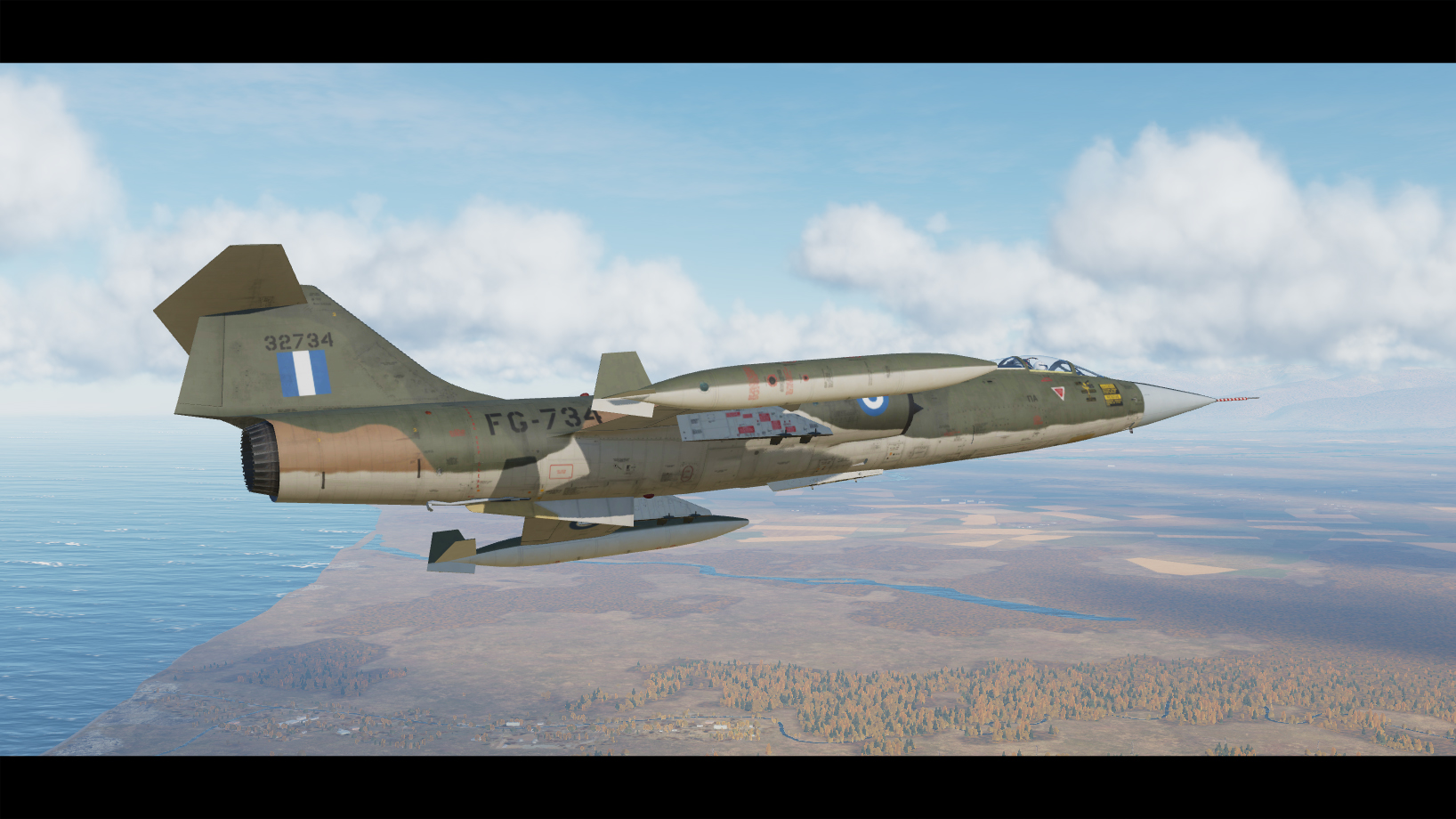F-104G Hellenic Air Force Sea Camo Skin
