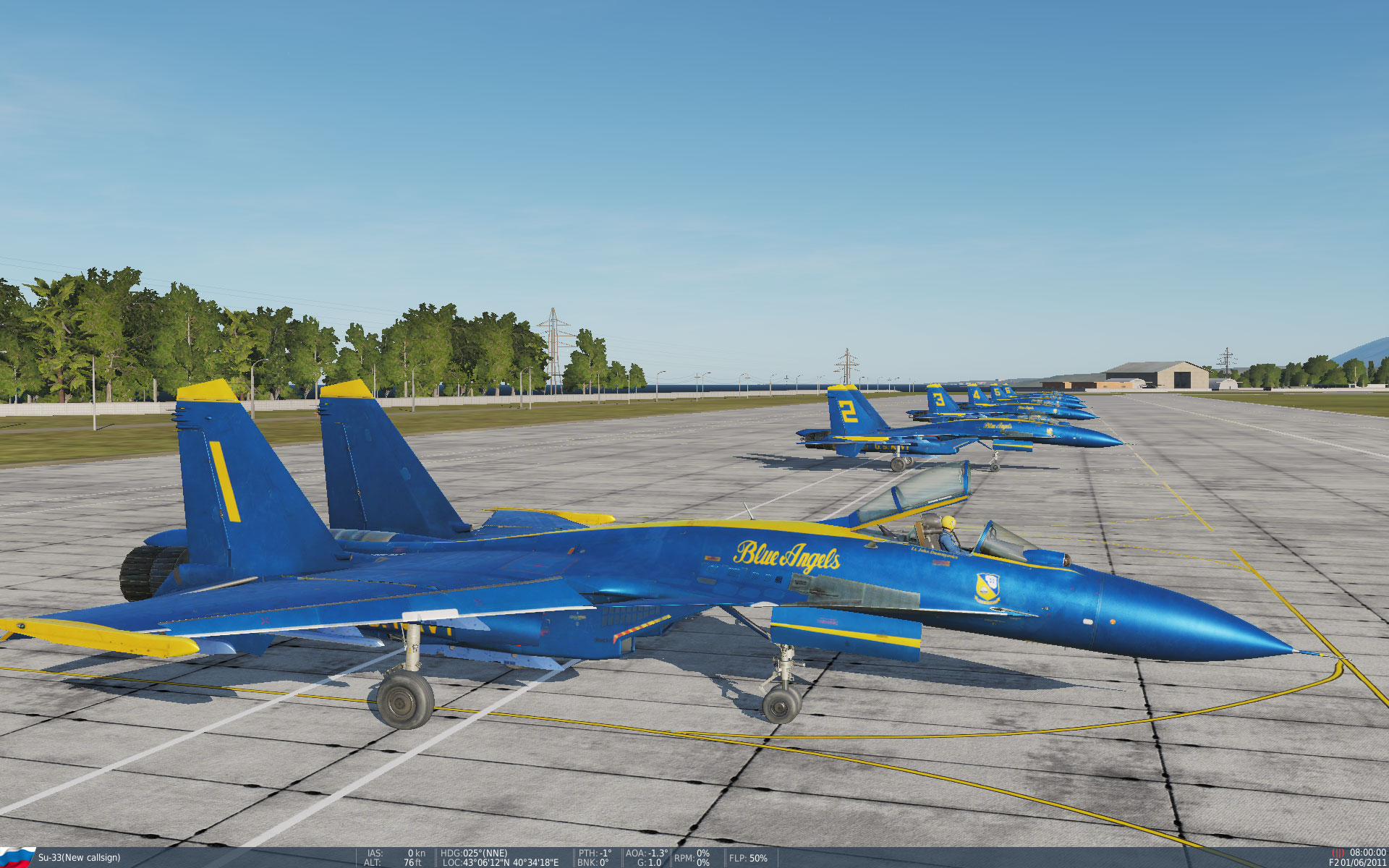 Blue Angels Full Team for SU-33