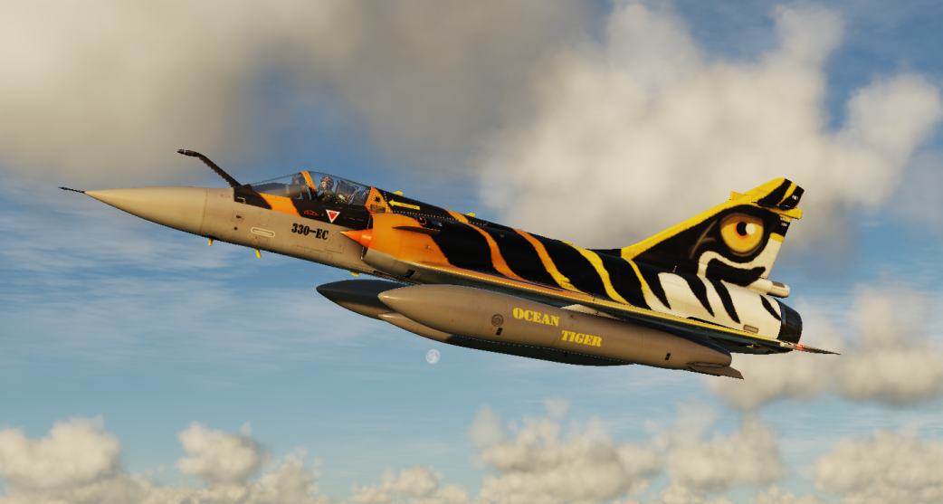 2008 NATO Tiger Meet for Mirage M-2000C (Original 'Ocean Tiger' paint scheme for Rafale)