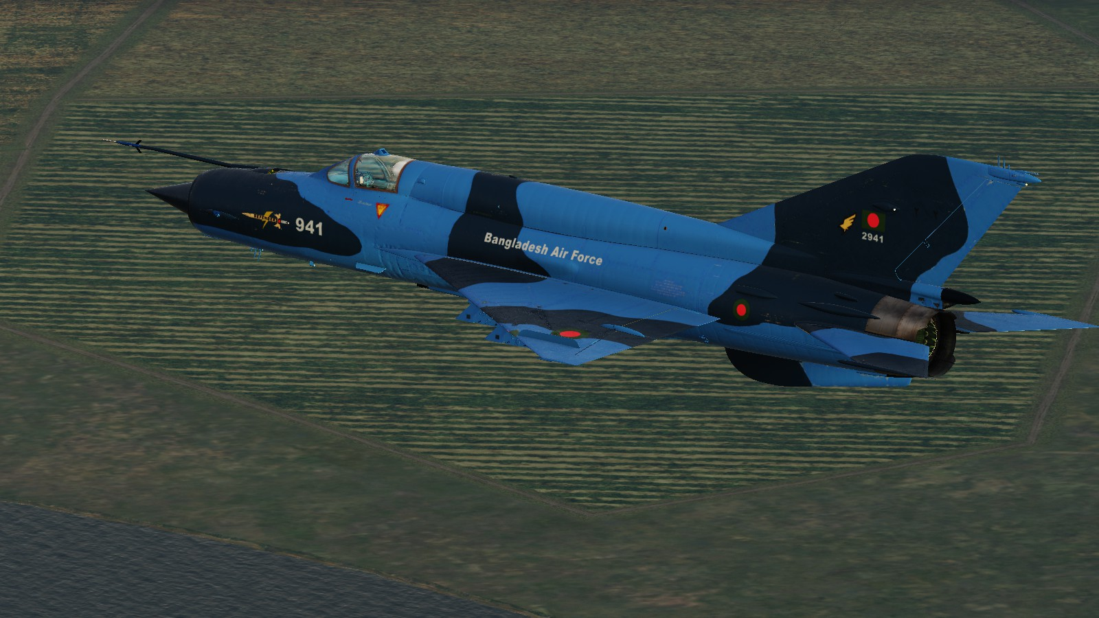 Bangladesh Air Force Mig-21(F-7) Blue camo
