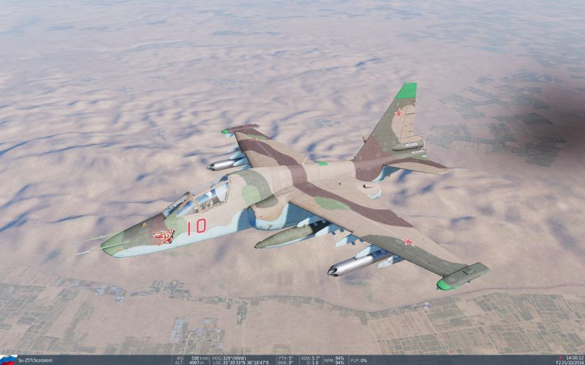 SU-25T arid scheme (with noseart, semi-fictional)