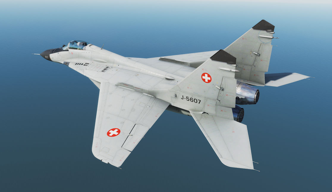 MiG-29 Fictional Swiss Air Force Skin (Model A/G/S, 2.5.3+)