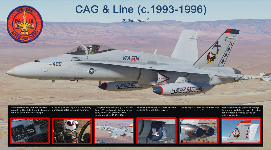 "VFA-204 ""River Rattlers"" CAG and Line (c.1993-1996) Part 1/2"