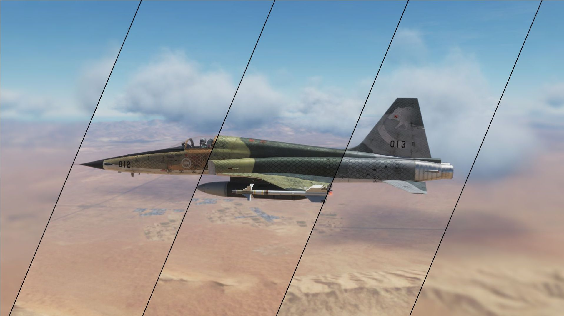 Hoggit Air Force - Camo (F-5E3 Tiger Livery pack)