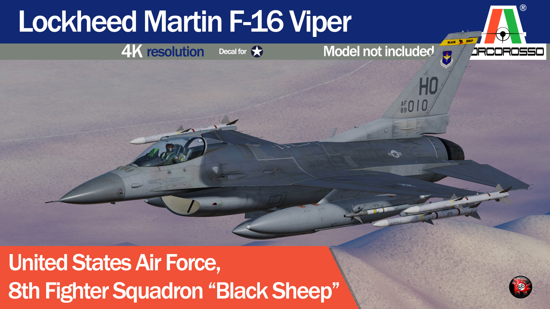 "USAF 8th Fighter Squadron ""Black Sheep"" by PorcoRosso86 UPDATE"