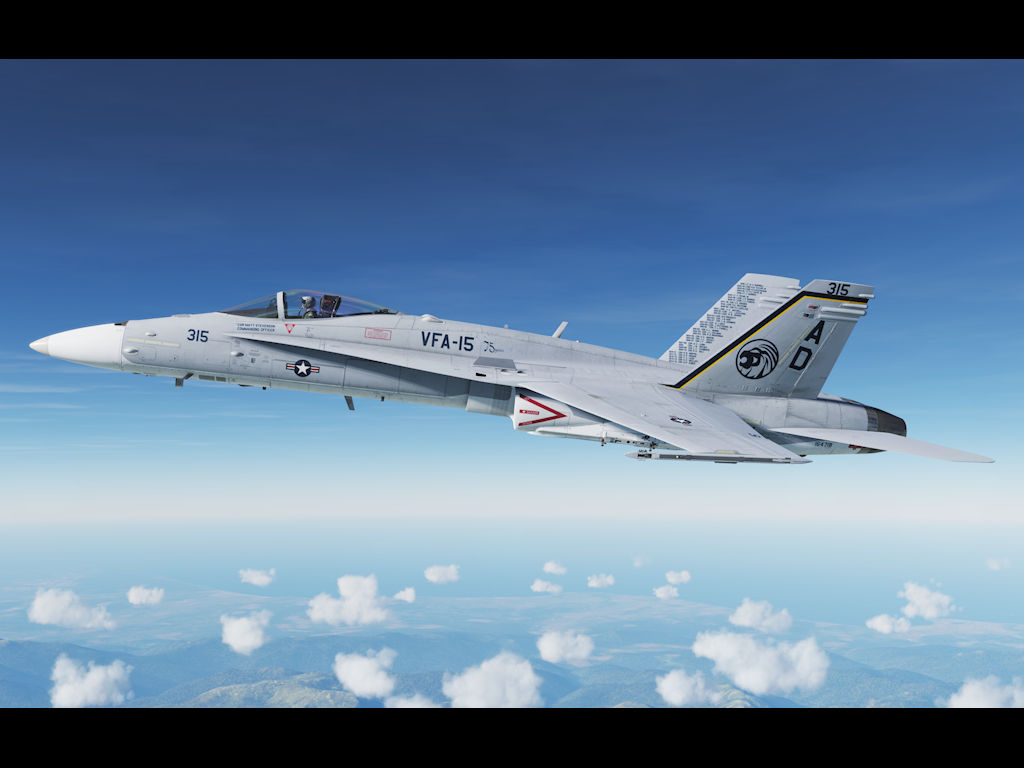 """VFA-15 Valions 75 Years of service"" Tac Demo Commemorative Hornet."