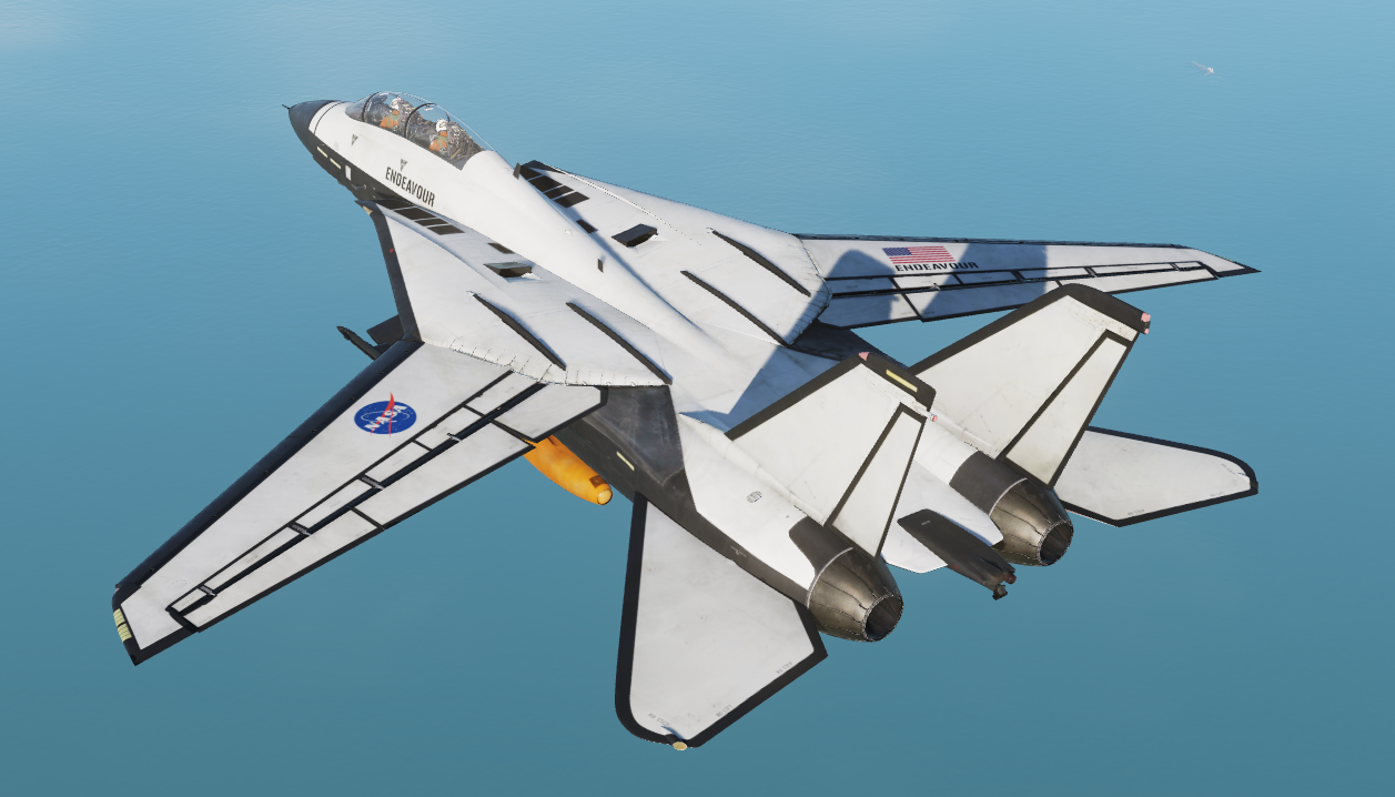 F14 Tomcat - Endeavour Space Shuttle