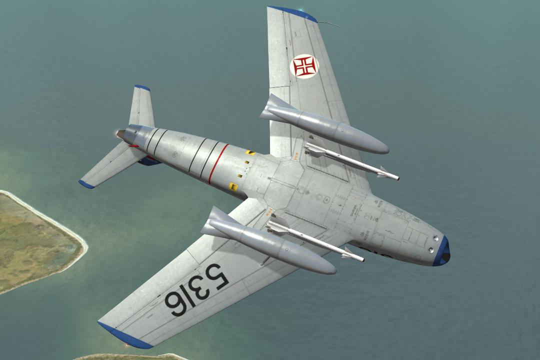north american f 86f sabre 5316 of esq 51 fap portuguese air force. Black Bedroom Furniture Sets. Home Design Ideas