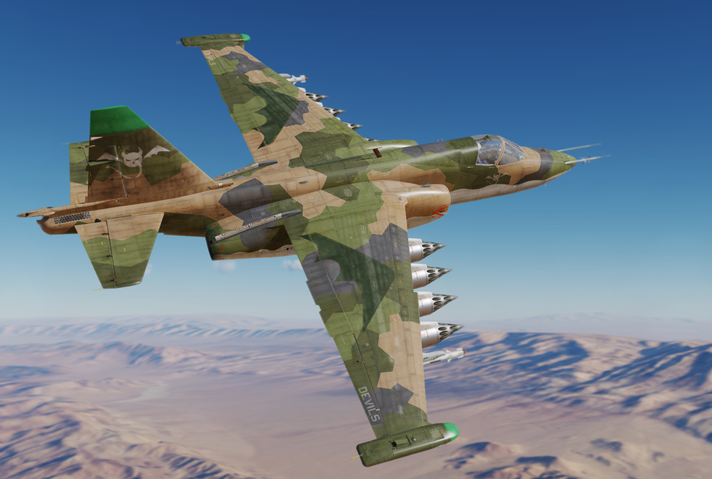 Devils Squadron SU-25 Frogfoot Low Viz Livery (Virtual Squadron) v1.0