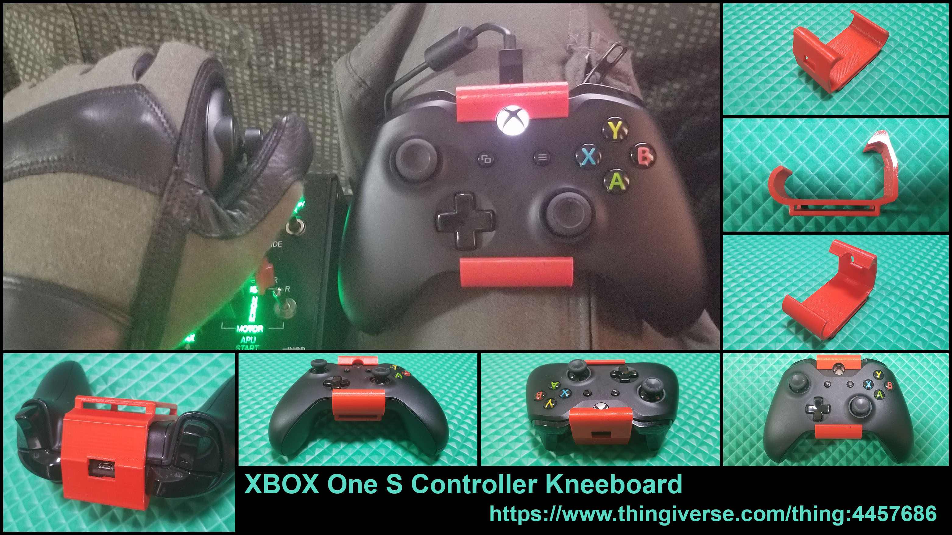 Xbox One S Controller Kneeboard
