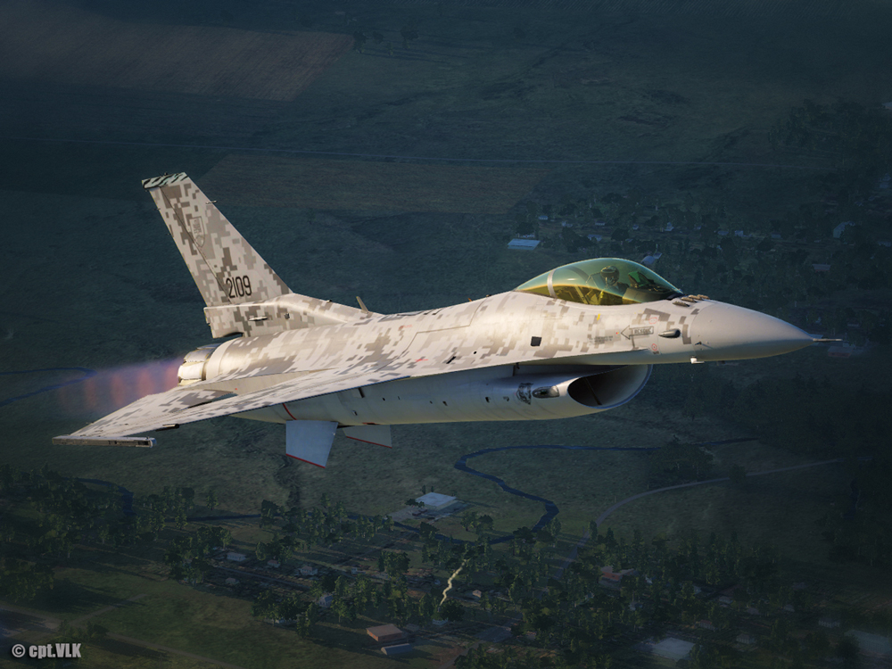 F-16C Slovak Air Force camouflage 2109
