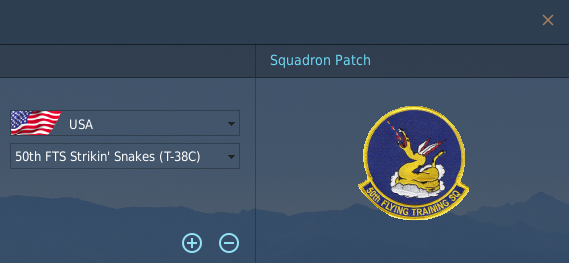 New USAF Squadrons for pilot Logbook