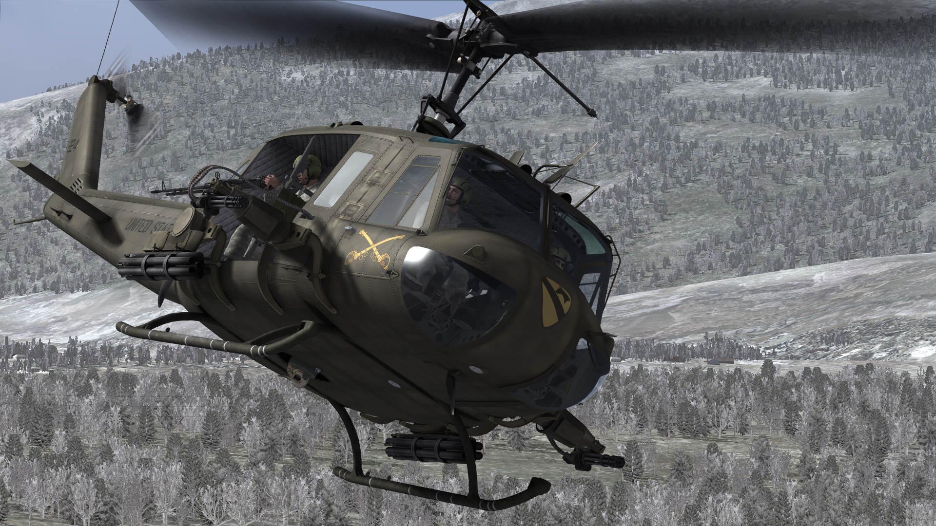 how to become heliopter door gunner