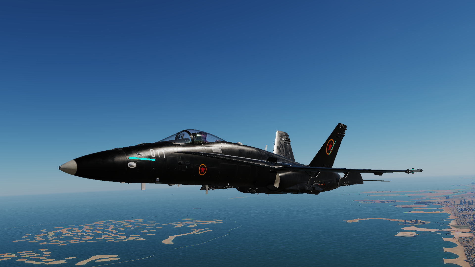 Fictional Mig-30s skin for F/A-18C