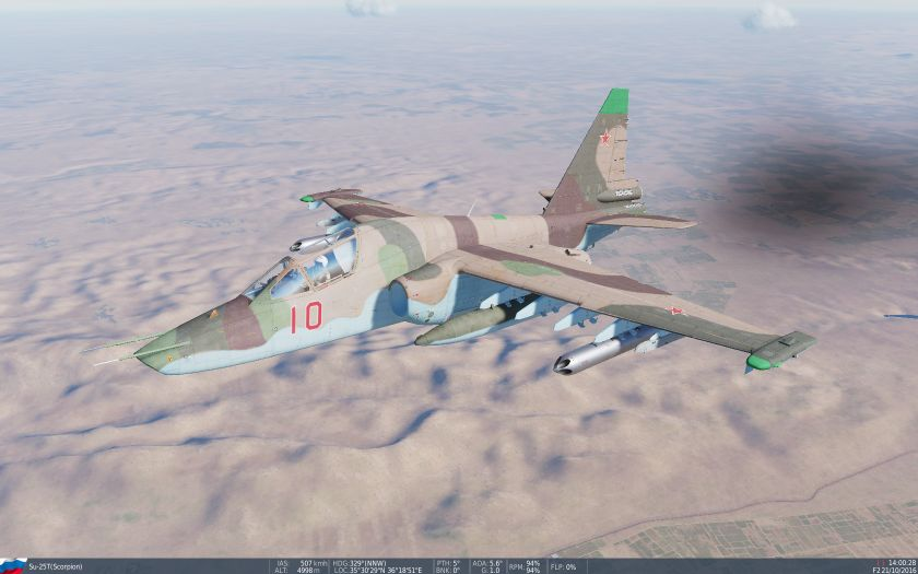 SU-25T arid scheme (semi-fictional)