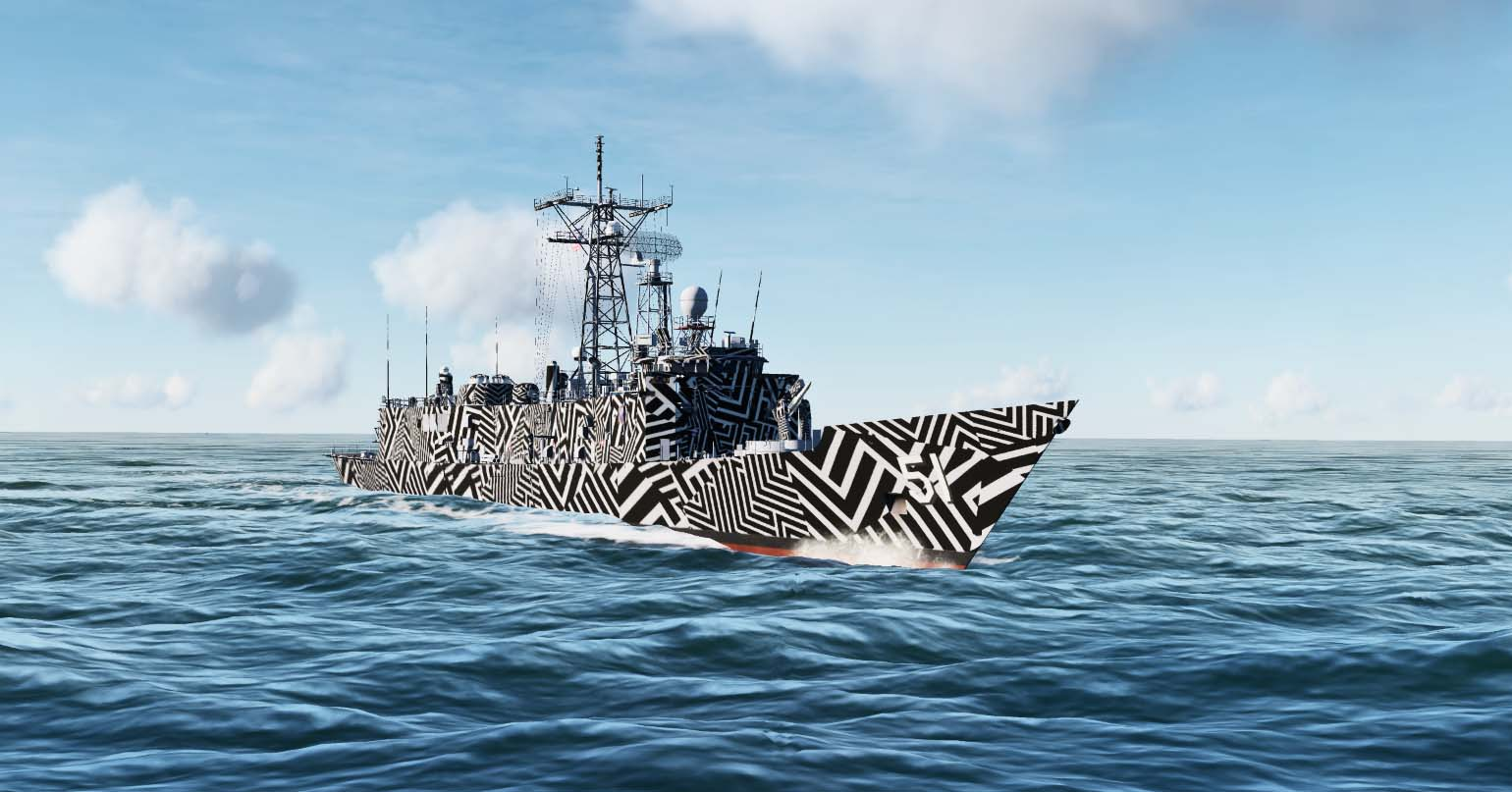 Oliver Hazard Perry-class frigate- Dazzle camouflage [FICTIONAL]