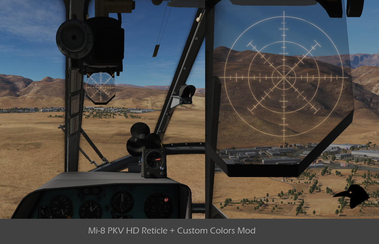 Mi-8 RPK HD Reticle and Custom Color Mod v01
