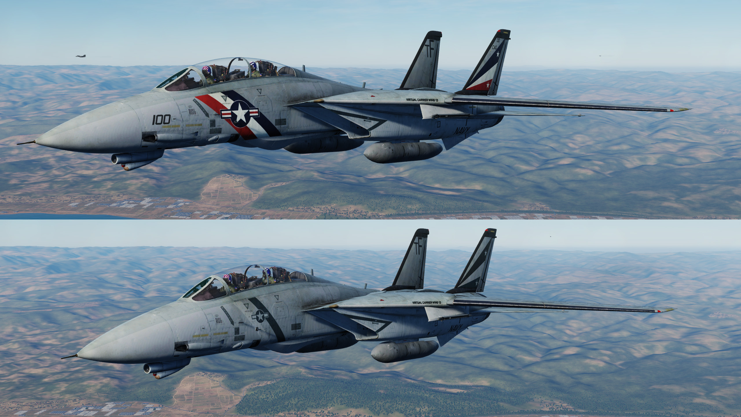 Virtual Carrier Wing 13 (VCW13) VF-68 Black Sabers Tactical Livery
