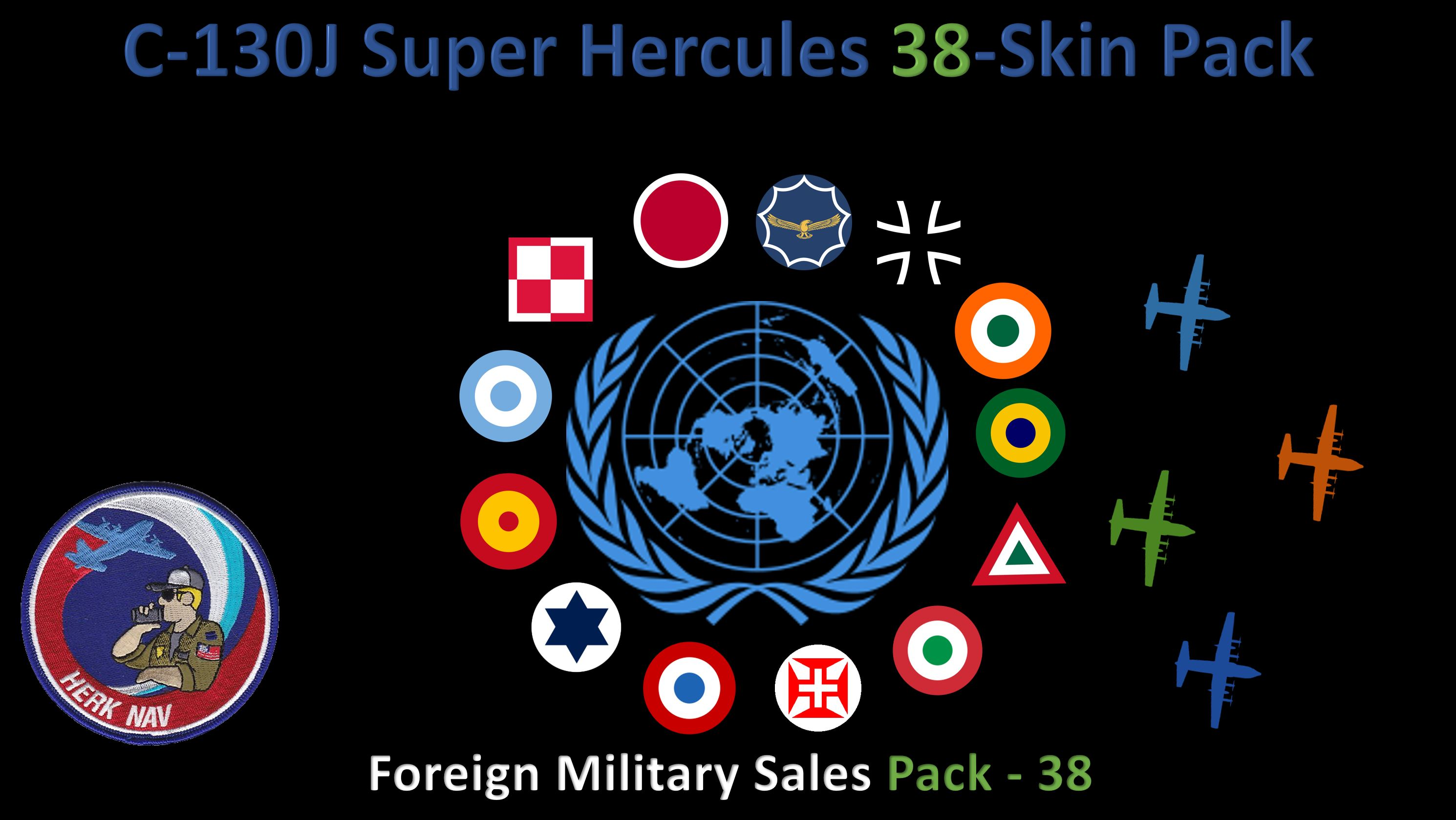 ***NEW 29JAN21***  C-130J Super Hercules 38-Skin FMS Pack V2.8.2