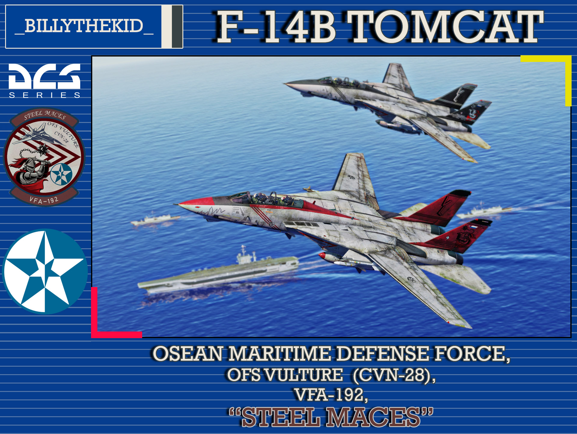 "Ace Combat - Osean Maritime Defense Force - VFA-192 - ""Steel Maces"" F-14B Tomcat"