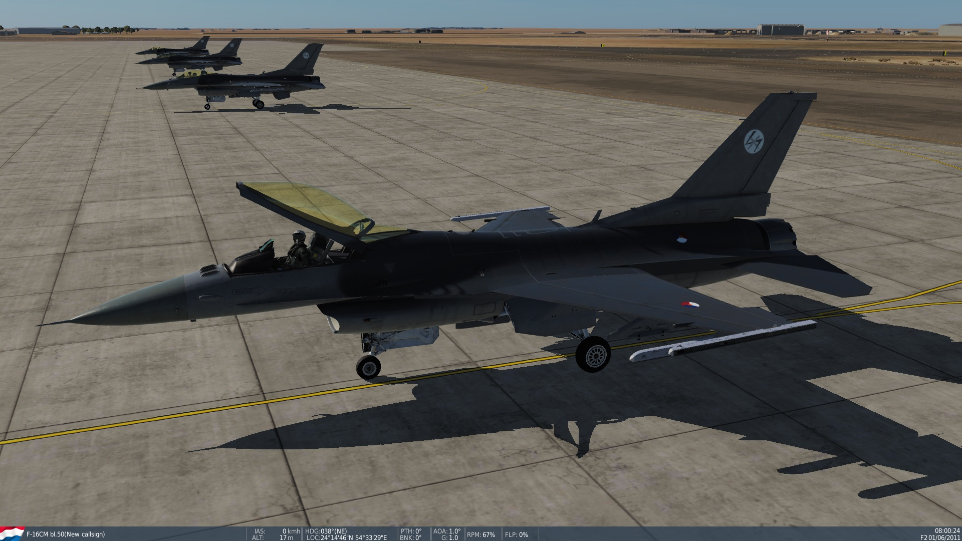 F-16CM Block 50 Royal Netherlands Air Force/Koninklijke Luchtmacht skin without tailnumber, feel free to add one.