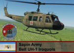 Sapin Army UH-1H - Ace Combat Zero (9th AAB, 2nd Sqd)   *UPDATED*