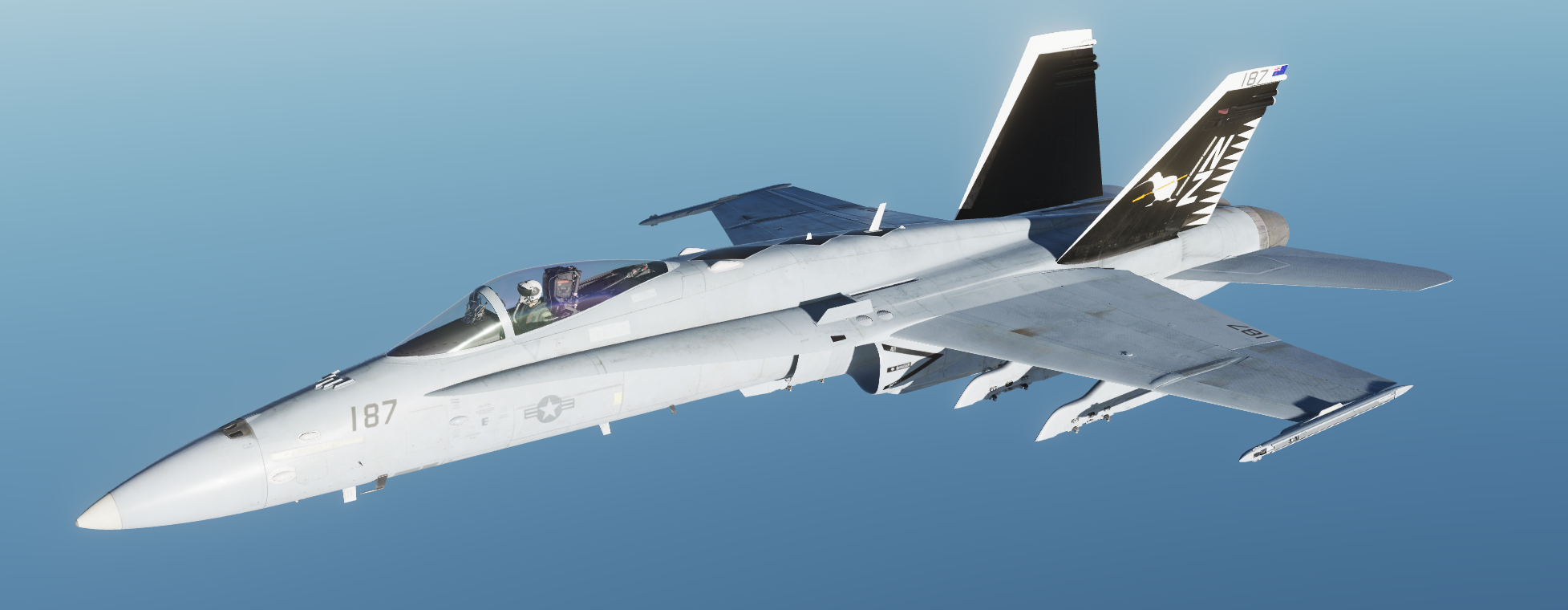 "Official ""The Flying Kiwis"" F/A-18C Hi Vis livery by Rhino"